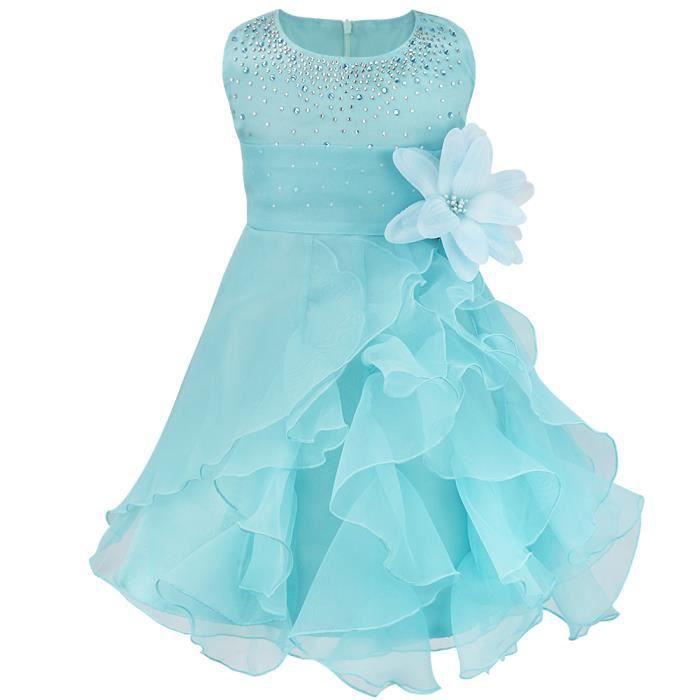 Or Baptême Fleur Fille Demoiselle D/'honneur Pageant Prom strass robe de soirée 0-24 M