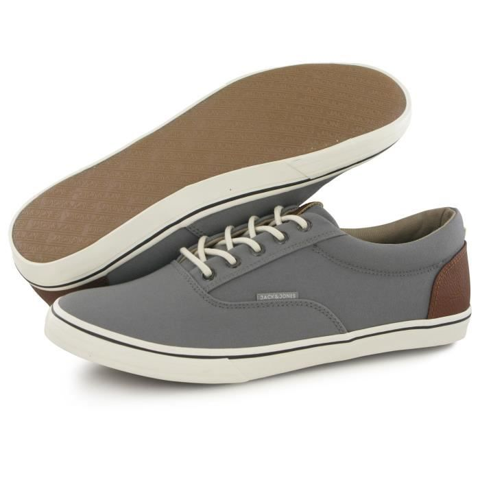 Jack And Jones Vision Mix Canvas gris, baskets mode homme
