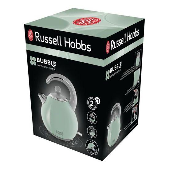 Russell Hobbs Bouilloire Electrique Bubble 1.5L Ebullition Rapide Design Ergonomique Vert 24404-70