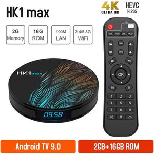 BOX MULTIMEDIA HK1MAX Smart tv box Android 9.0 2Go+16Go 2.4GWifi
