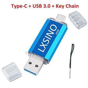 CLÉ USB Clé USB 3.0 LXSINO 64 Go Dual Type C C: clé USB OT
