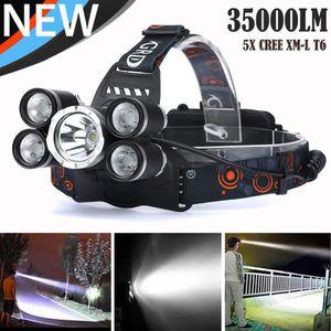 LAMPE DE POCHE 35000 LM 5X XM-L T6 LED Rechargeable Lampe frontal