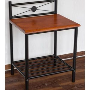 table de chevet bois et metal achat vente table de chevet bois et metal pas cher cdiscount. Black Bedroom Furniture Sets. Home Design Ideas