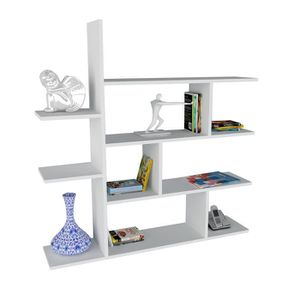 etagere murale blanc laquee achat vente etagere murale blanc laquee pas cher les soldes. Black Bedroom Furniture Sets. Home Design Ideas