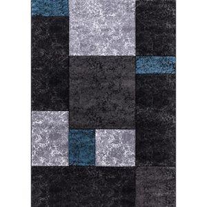 TAPIS Tapis de salon Lima 330 bleu, gris et noir
