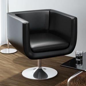 FAUTEUIL Fauteuil de Bar Noir 63 x 56 cm en Similicuir et P