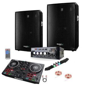 PACK SONO PACK SONO 600 + AMPLI + ENCEINTE + CONTROLEUR DJ P