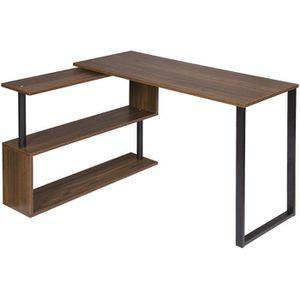 BUREAU  WOLTU Table de bureau en métal et MDF,Bureau d'ord