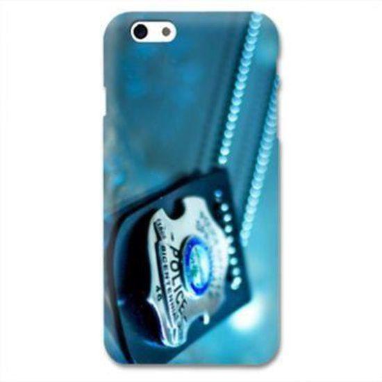 Coque Iphone 6 plus / 6s plus pompier police - - plaque -