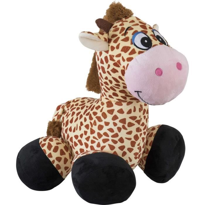 INFLATE-A-MALS Peluche gonflable Girafe chevauchable 45cm - Ultra résistante