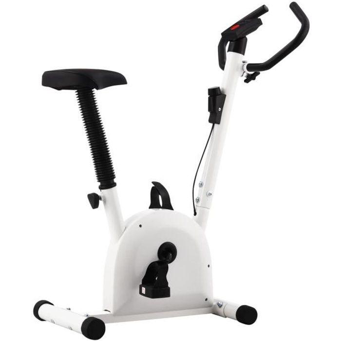 Vélo d'appartement-Vélo Cardio Biking spinning d'Exercice avec résistance à courroie Blanc