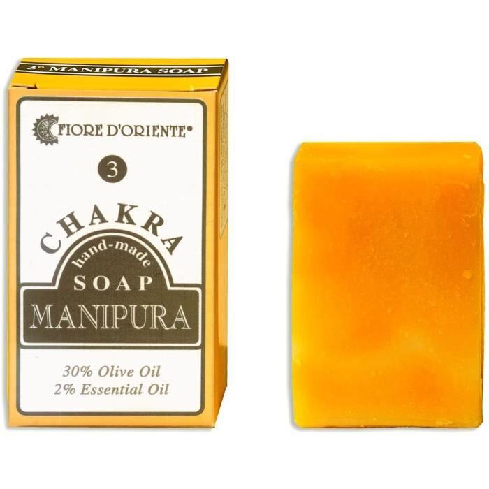 Savons et nettoyants pour les mains Fiore d 'oriente 3ème Chakra Manipura fait à la main Savon Bar 70 g, jaune 63769