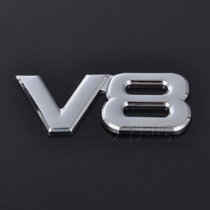 Autocollant de voiture Badge automobile V8 Logo Pour BMW Audi Volkswagen Ford Nissan Toyota Honda emblème de MC6550