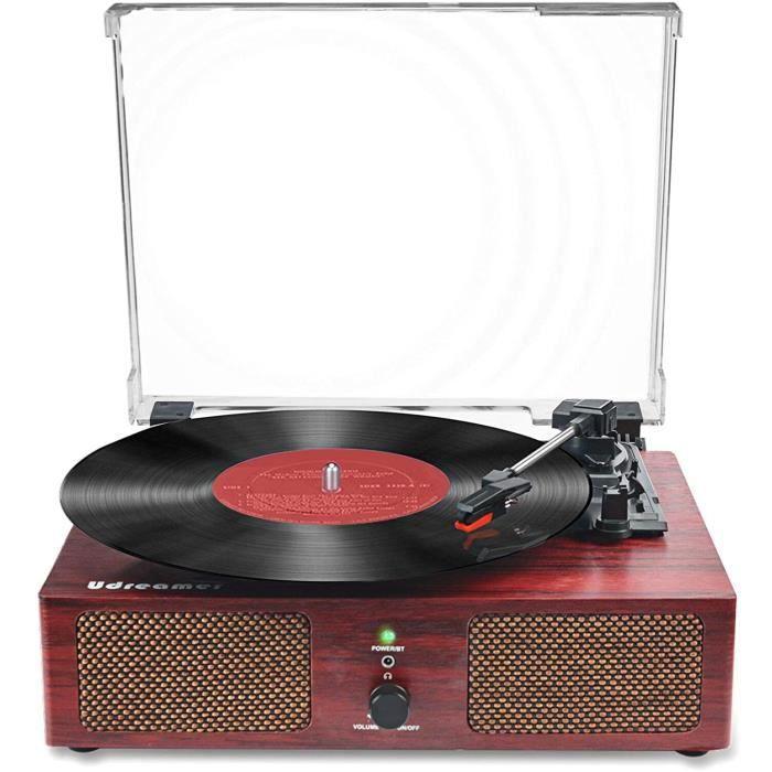 auna Bella Ann - système stéréo, Radio Dab+ / FM, Platine Vinyle 33/45/78 t/MN, Bluetooth, Lecteur CD pour CD-R/RW et MP3CD, Port US