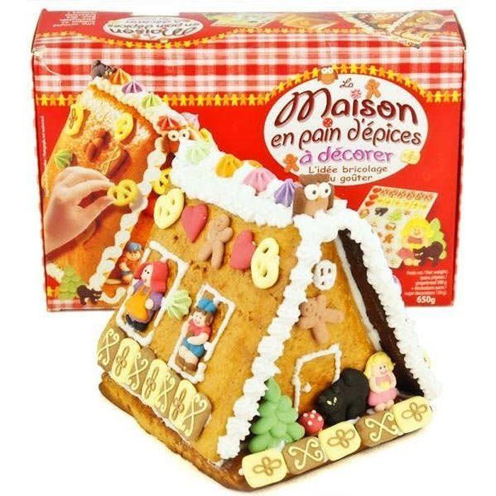 Décoration Maison Pain d'Épice Made In France Idée Boite Cadeau Noël Loisir créatifs de Noël pour Enfants Gingerbread House kit