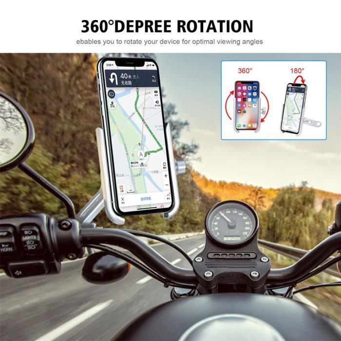 Aide A La Conduite - Securite Support De Téléphone Vélo En Alliage Gps Moto Pour Iphone 11 Pro Max Ngh90912102Sl