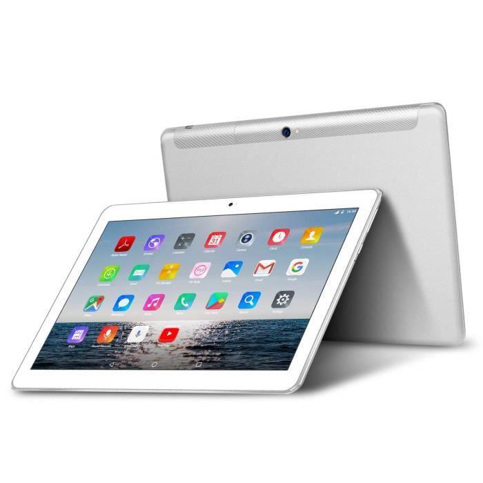 4G Lte Tablette Tactile 10 Pouces Beista W109 Android 7.0, Quad Core,4G Doule Sim,32 Go,3 Go Ram,Wifi/Bluetooth/Gps/,Double Argenté