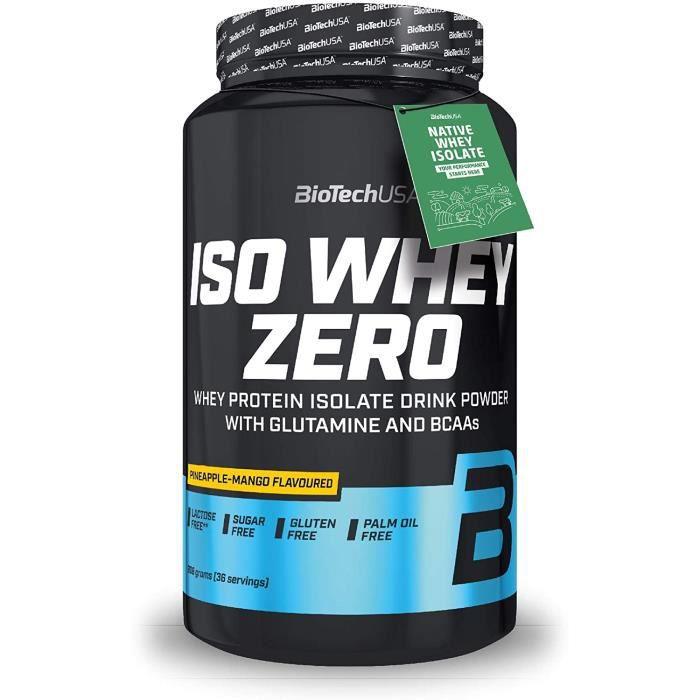 Iso Whey Zero 908g ANANAS MANGUE Proteine ISOLATE Biotech USA
