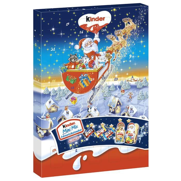 Ferrero Kinder Mini Mix Calendrier de l'Avent 2020 152g