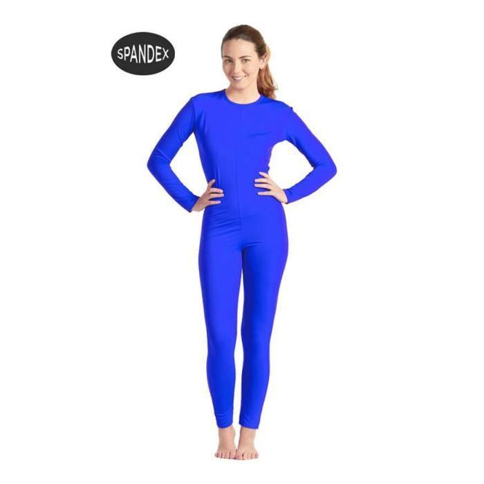 Justaucorps ou Combinaison Spandex Super Élastique Bleu pour femme