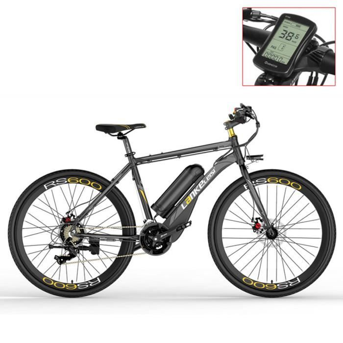 Vélo électrique de RS600,36V20Ah vélo de Route, Frein à Disque des Deux,Systèmes d'assistance à la pédale (+1 batterie de rechange).