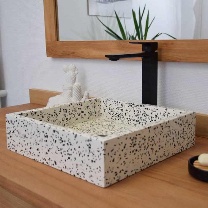 Vasque à poser en terrazzo crème, Arlecchino 40 Crème