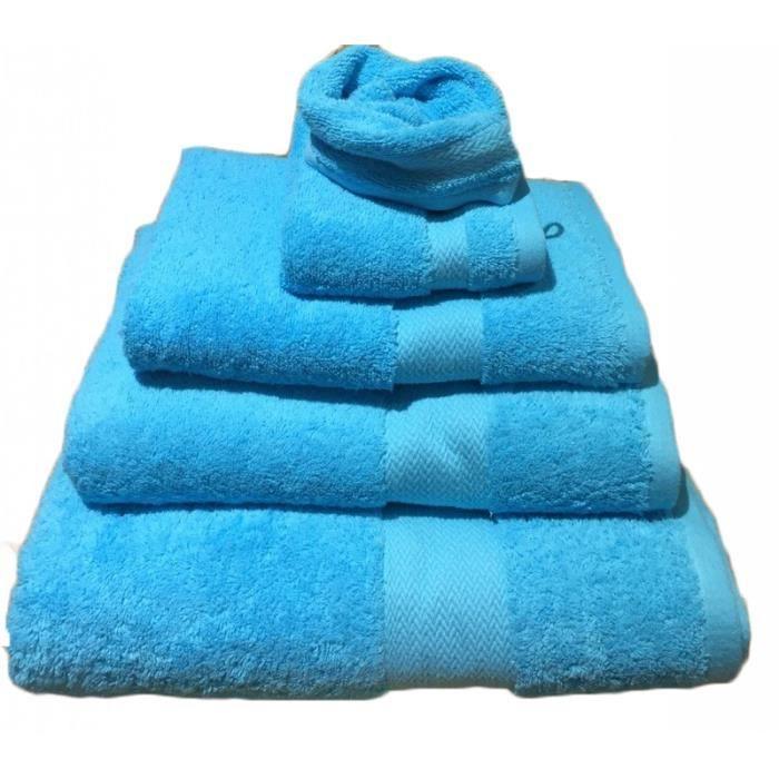Drap de douche Peigné Turquoise