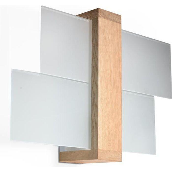 Applique Murale FENIKS E27 LED Lampe Murale Moderne Design pr Chambre Salon Escalier Couloir - Bois