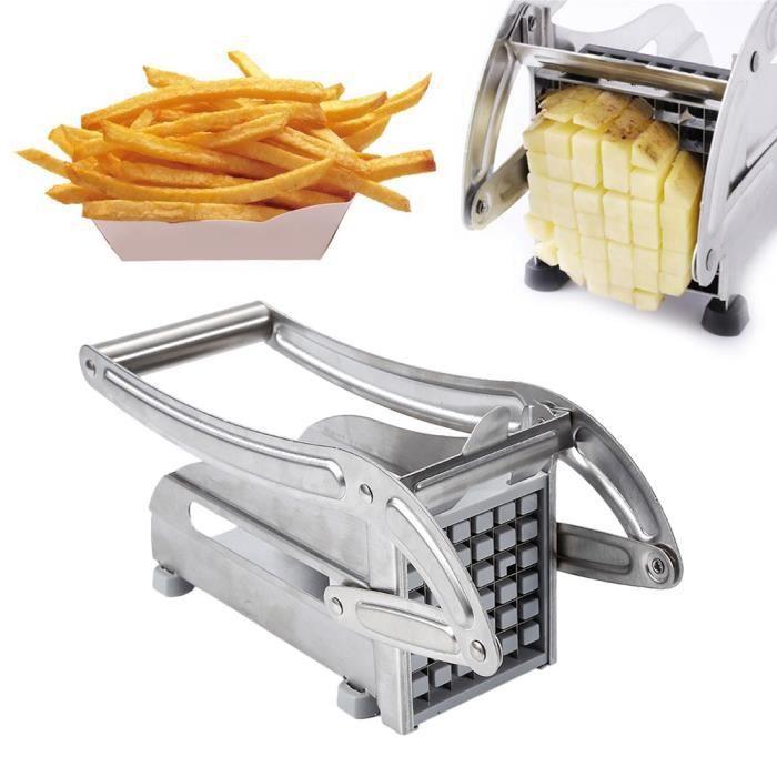 Coupe-Pommes de Terre Coupe-Fruits Frites D/éChiqueteuse Gadgets de Cuisine Outil de Friture Kirmax Coupe-Pommes de Terre en Acier Inoxydable 5-en-1 Fabricant