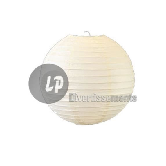 lampion boule abat jour papier blanc 50cm achat vente lampion boule abat jour papier blanc. Black Bedroom Furniture Sets. Home Design Ideas
