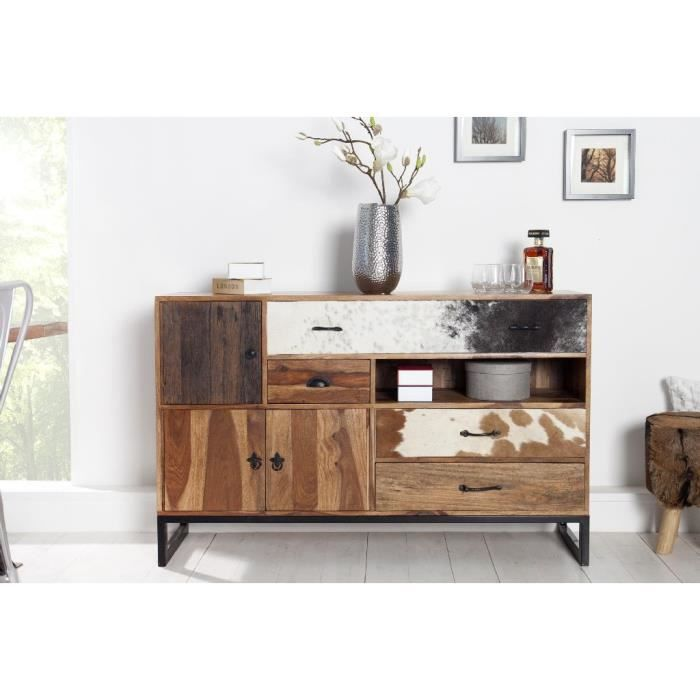 buffet en bois design wokan naturelle achat vente. Black Bedroom Furniture Sets. Home Design Ideas