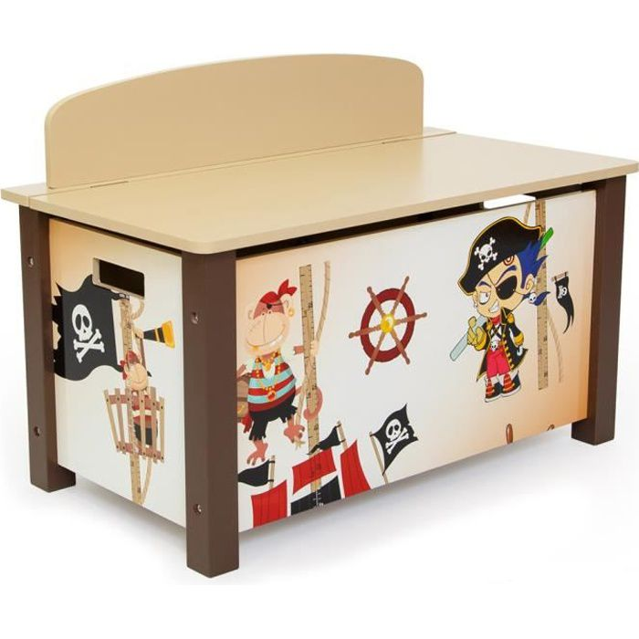 coffre a jouet pirate achat vente coffre a jouet pirate pas cher cdiscount. Black Bedroom Furniture Sets. Home Design Ideas