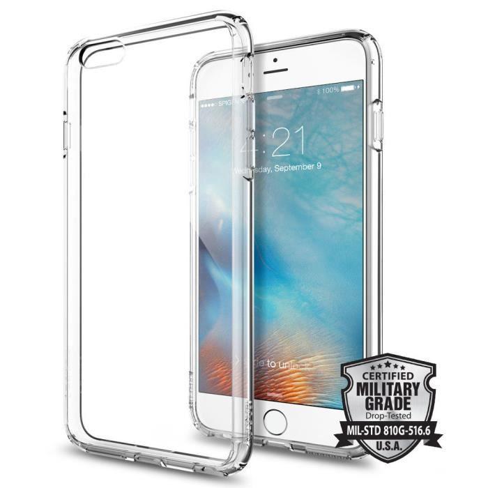 Spigen Ultra Hybrid Coque iPhone 6 Plus / 6s Plus Crystal Clear ...