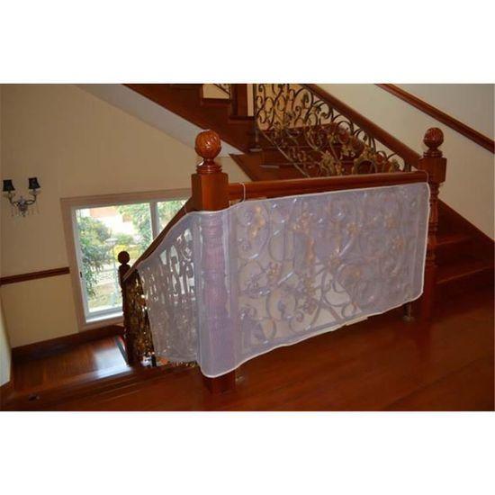 Filet de S/écurit/é pour Balcon et Escalier blanc 3M B/éb/é et Enfant Filet de Protection Balcon Solide et robuste Balustrade en Maille R/ésistant