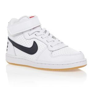 BASKET MULTISPORT NIKE Baskets COURT BOROUGH MID VLC - Enfant - Blan