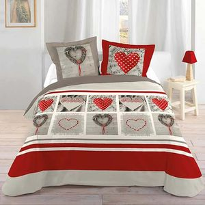housse de couette motif coeur achat vente housse de. Black Bedroom Furniture Sets. Home Design Ideas