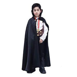 Chauve-souris Cape Vampire Comte Dracula Carnaval Halloween Sorcier Enfants