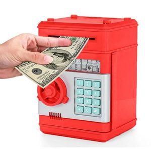 TIRELIRE ATM tirelire électronique avec mot de passe rouge