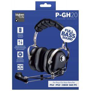 CASQUE AVEC MICROPHONE CASQUE MICRO P-GH20 POUR PS3 PS4 PC XBOX 360