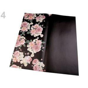 PAPIER CADEAU 4pc Noir Décoratif / Papier d'Emballage 58x59cm, E