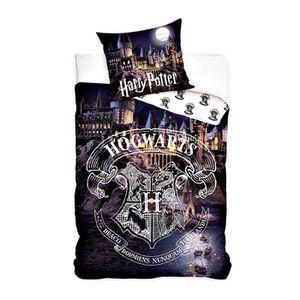 HOUSSE DE COUETTE SEULE Parure de lit Harry Potter 160 x 200 + 1 taie d'or