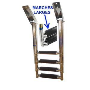 ÉCHELLE - CHAISE DE MÂT Echelle inox 316 Bateau 4 Marches Télescopique Mar