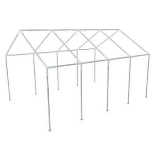 Structure De Tente Chapiteau Pavillon Jardin 8 X 4 M Pour Tonnelle Fête Camping Barbecue Extérieur Durable