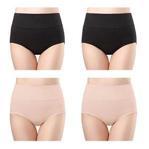 CULOTTE - SLIP Culottes Gainante Femmes Coton Taille Haute sous-v