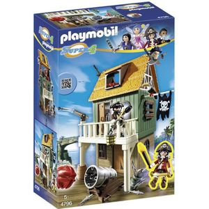 UNIVERS MINIATURE PLAYMOBIL 4796 Super4 Fort Des Pirates Camouflé Av