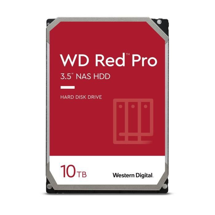 WD Red™ Pro - Disque dur Interne NAS - 10To - 7200 tr/min - 3.5- (WD102KFBX)
