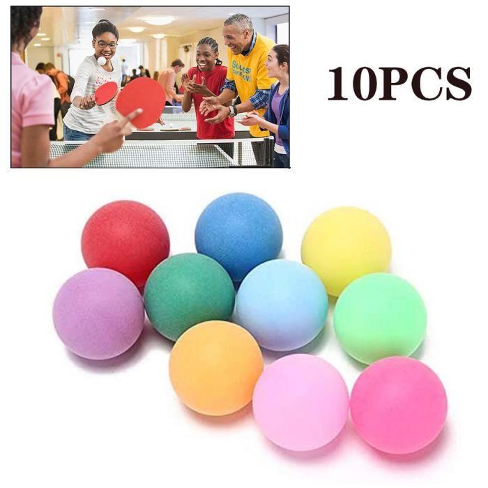 Balles de tennis de table de divertissement de 10pcs - pack de balles de ping-pong colorées@dees4921