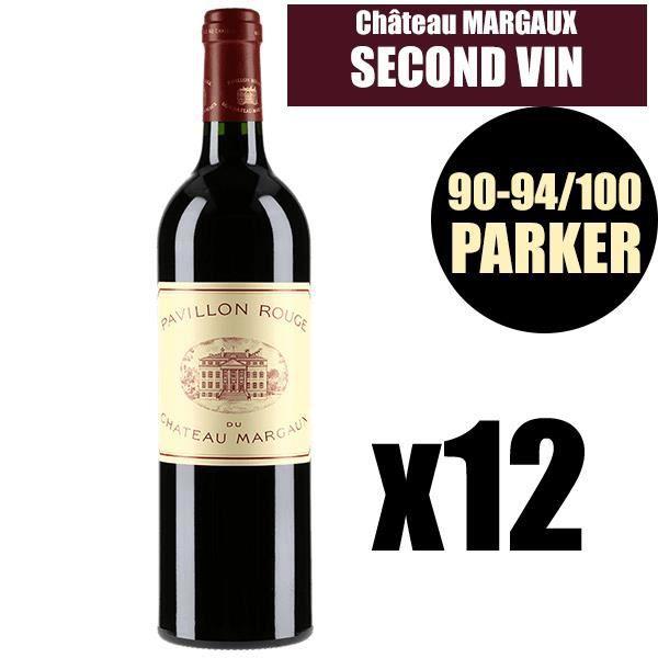 X12 Pavillon Rouge du Château Margaux 2015 75 cl AOC Margaux Rouge 2ème Vin Vin Rouge