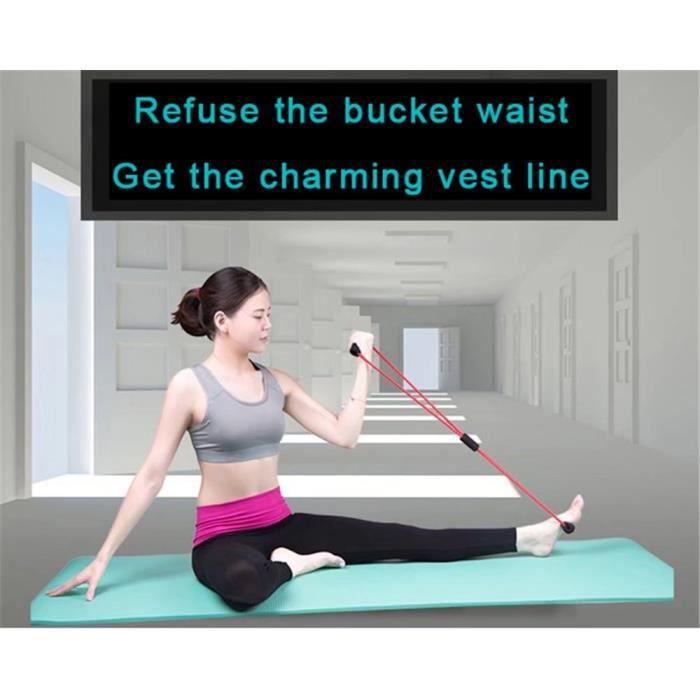 Expandeurs résistance bandes exercice forme 8 Stretching ceinture pectorale pour Fitness exercices à domicile