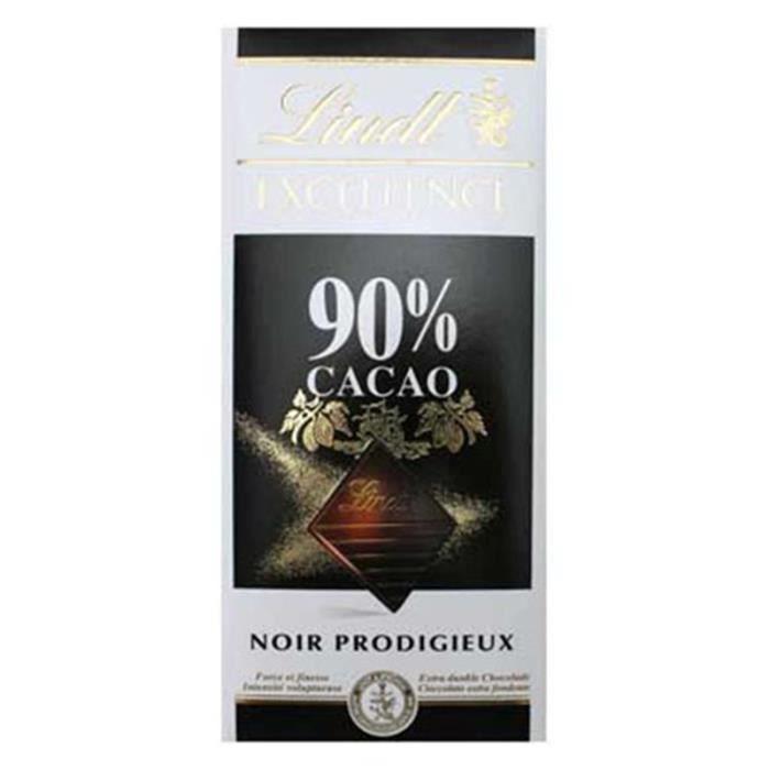 Lindt Excellence Noir Prodigieux 90% Cacao (lot de 4)